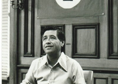 Cesar Chavez begins press conference in Providence, Rhode Island in 1975