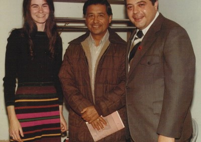 Cesar Chavez with Ann Smith and Providence Mayor Buddy Cianci, 1975